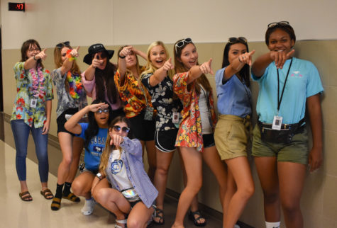 Senior girls see a Jaguar win in their future on tacky tourist day.