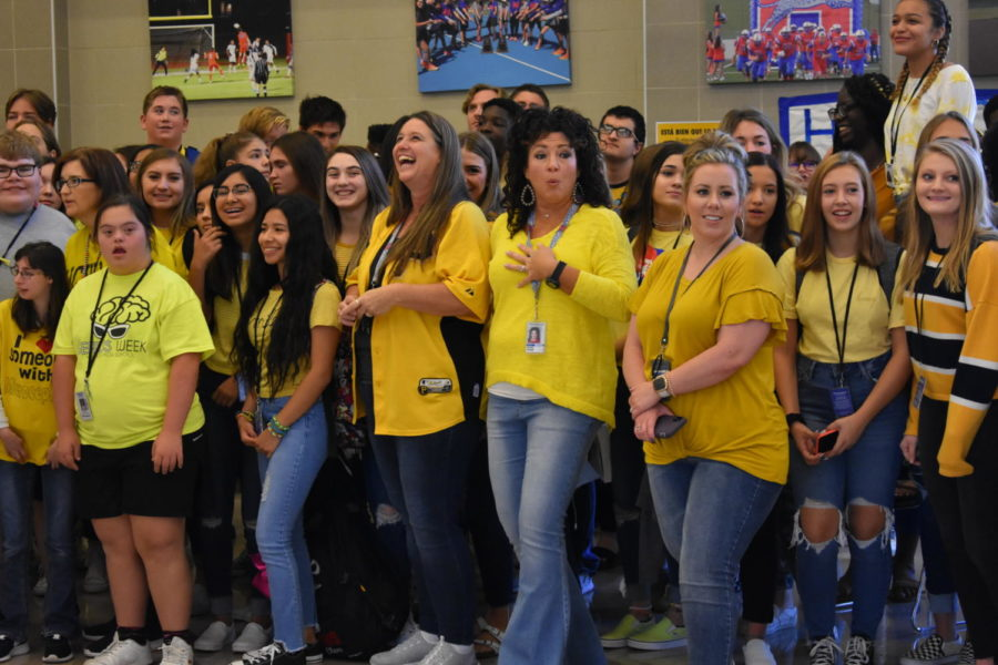 In honor of one of our own students, students and staff wore yellow for Microcephaly awareness.