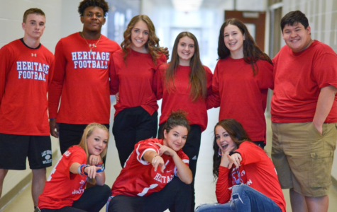 For the final dress up day, students dress up in red.